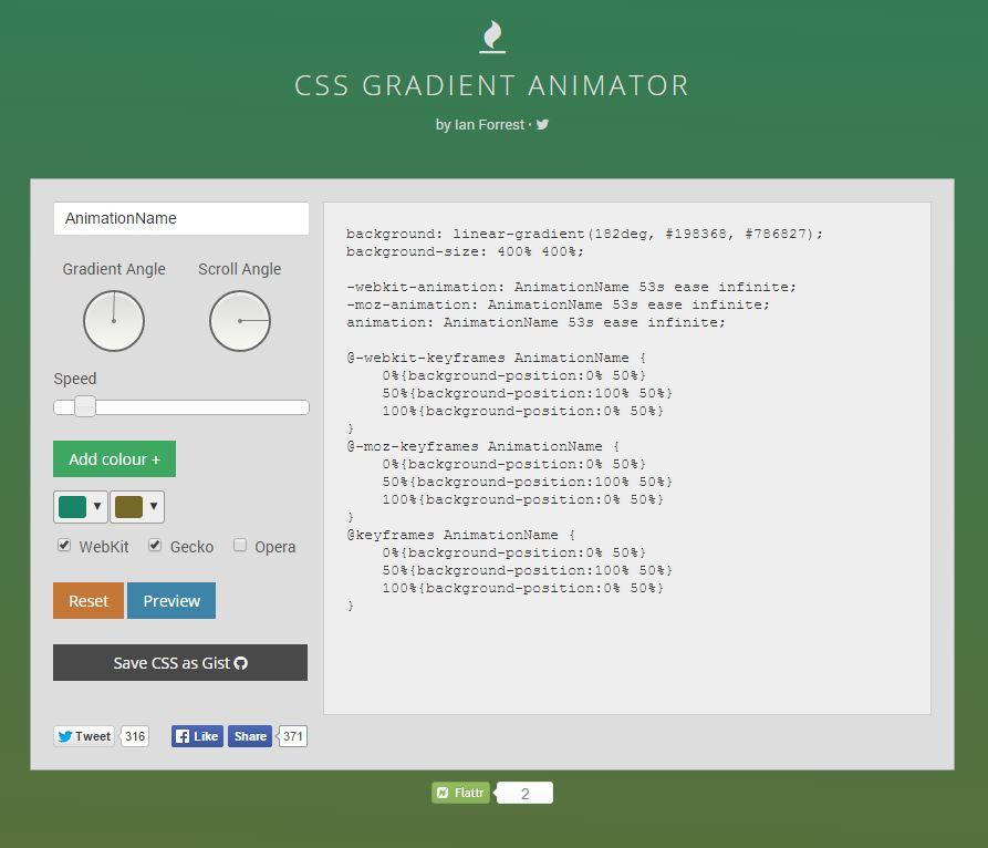 Css3 Gradient Animation Generator Tools Raaz Bhuiyan